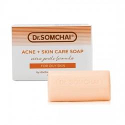 Xà Bông Tắm Trị Mụn Cho Da Dầu Dr.Somchai Acne Skin Care Soap Oily Skin 80g Thái Lan