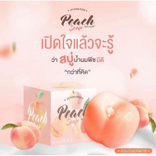 Xà Phòng Tắm Sữa Đào Peach Soap 80g Thái Lan