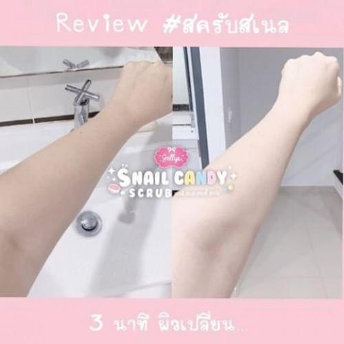 Viên Tẩy Tế Bào Chết Jellys Snail Candy Scrub Thái Lan