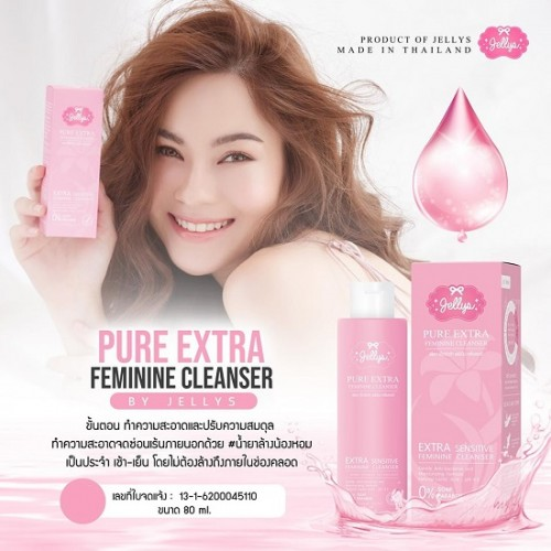 Dung Dịch Vệ Sinh Phụ Nữ Jellys Pure Extra Feminine Cleanser 80ml Thái Lan