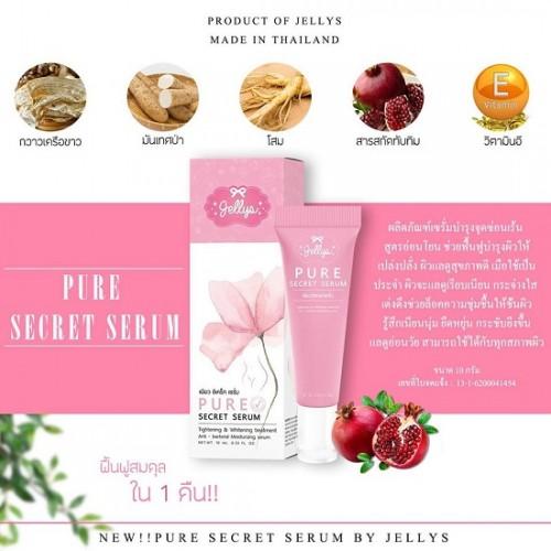 Serum Làm Hồng Và Se Khít Vùng Kín Jellys Pure Secret Serum 10ml Thái Lan
