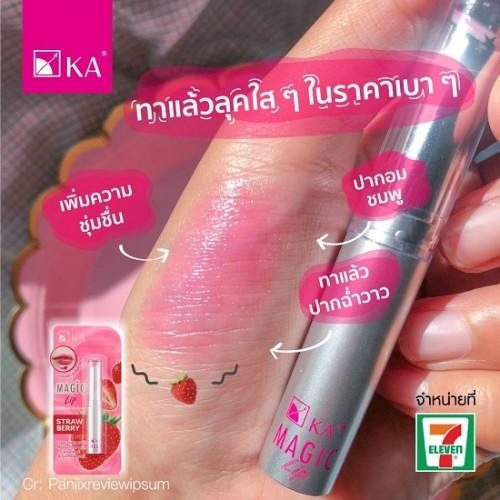 Son Dưỡng Môi KA Magic Lip Màu Dâu Tây 2.2g Thái Lan