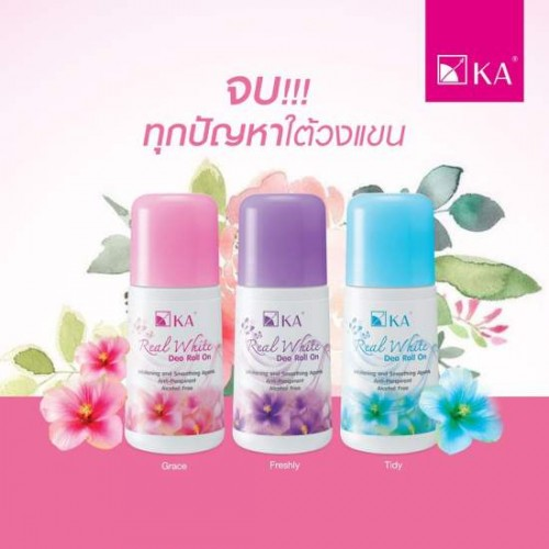 Lăn Khử Mùi Trắng Nách KA Real White Freshly 25ml Thái Lan