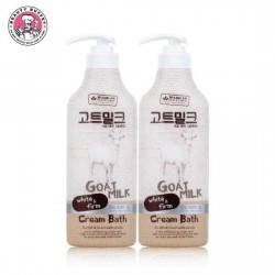 Combo 2 Chai Kem Tắm Sữa Dê Made In Nature Goat Milk Cream Bath 450ml Thái Lan