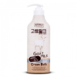 Kem Tắm Sữa Dê Made In Nature Goat Milk Cream Bath 450ml Thái Lan