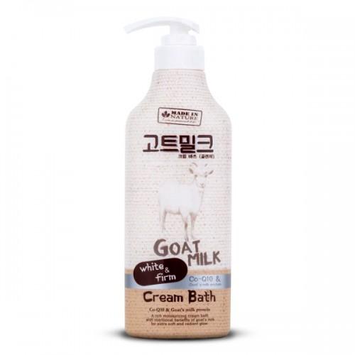 Kem Tắm Sữa Dê Made In Nature Goat Milk Cream Bath 450ml Thái Lan