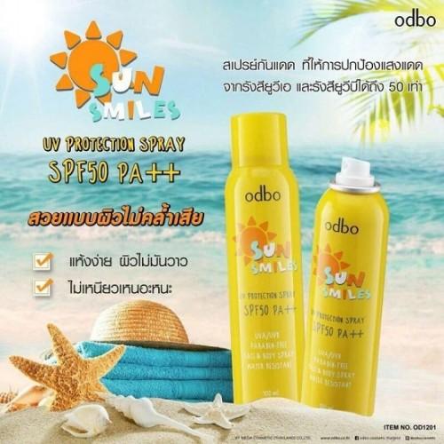 Xịt Chống Nắng Odbo Sun Smiles OD1201 100ml Thái Lan