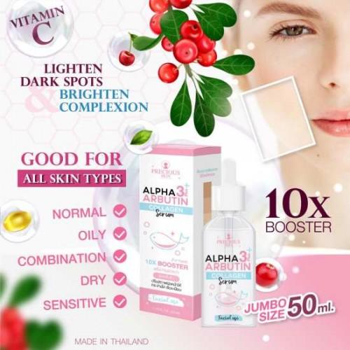 Serum Trắng Da Bổ Sung Collagen Alpha Arbutin 3 Plus Collagen Serum 10X Booster 50ml Thái Lan