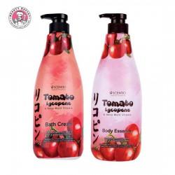 Combo Tắm Và Dưỡng Thể Cà Chua Scentio Tomato Lycopene 700ml Thái Lan