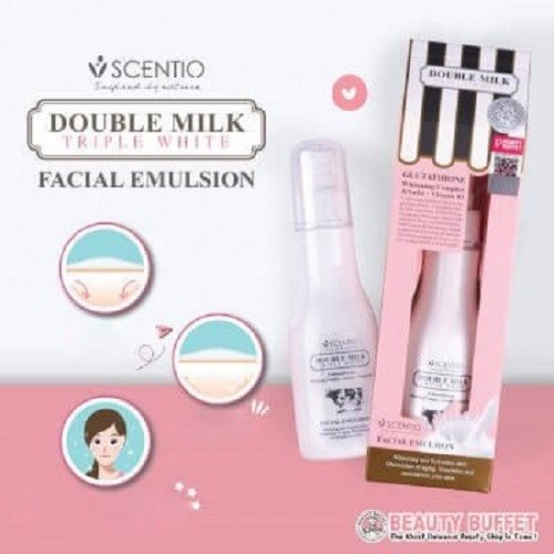 Sữa Dưỡng Trắng Da Mặt Scentio Double Milk Triple White 150ml Thái Lan