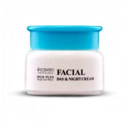 Kem Dưỡng Trắng Da Mặt Ngày Và Đêm Scentio Milk Plus Facial Day & Night Cream 50ml Thái Lan