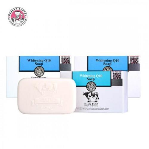 Combo 3 Xà Phòng Tắm Trắng Da Scentio Milk Plus Q10 Soap Thái Lan