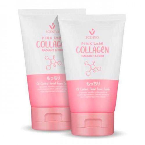 Combo 2 Chai Sữa Rửa Mặt Kiểm Soát Nhờn Scentio Pink Collagen 100ml x2 Thái Lan