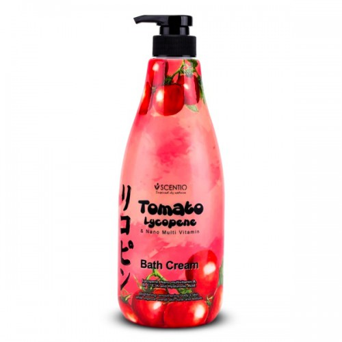 Kem Tắm Cà Chua Trắng Da Scentio Tomato Bath Cream 700ml Thái Lan