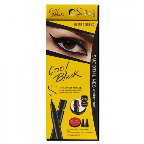 Bút Kẻ Mắt Sivanna Colors Cool Black Eyeliner Pencil HF905 Thái Lan