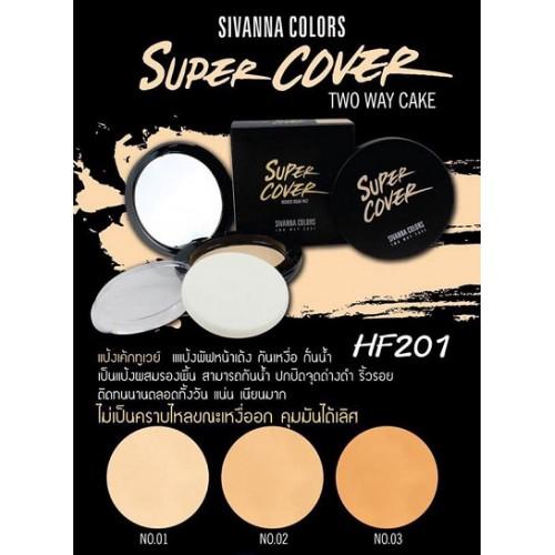Phấn Phủ Cao Cấp Sivanna Colors Super Cover HF201 Thái Lan