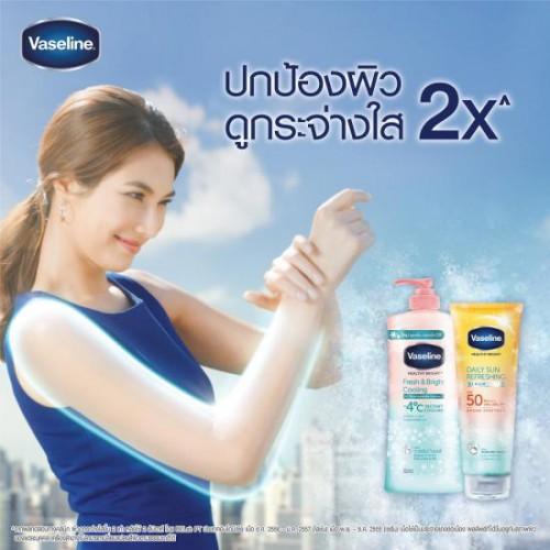 Combo 6 Chai Lotion Dưỡng Thể Vaseline Fresh & Bright Cooling 550ml Thái Lan