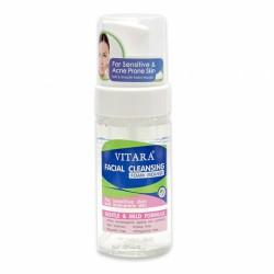 Bọt rửa mặt làm sạch da mụn và da nhảy cảm - Vitara Facial Cleansing Foam Mousse