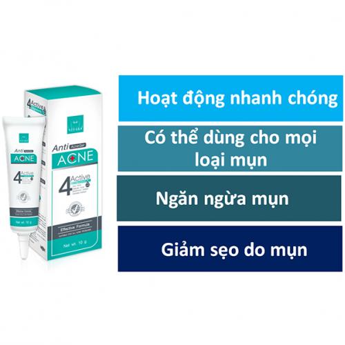 Kem trị mụn 4 tác dụng Vitara Anti Acne Gel