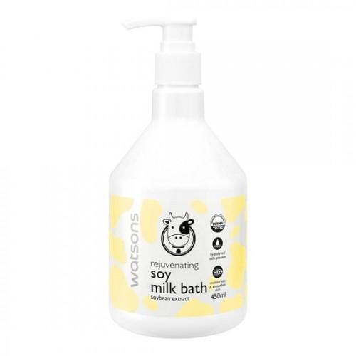 Sữa Tắm Bò Watsons Rejuvenating Soy Milk Bath 450ml Thái Lan [Vàng]
