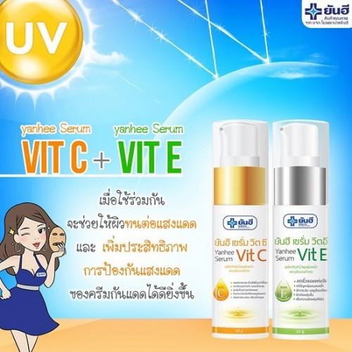 Bộ Đôi Serum Chăm Sóc Da Mặt Yanhee Vit C & Vit E Thái Lan