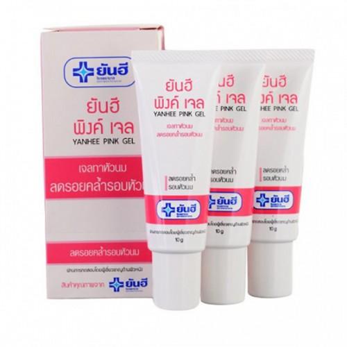 Combo 3 Tuýp Làm Hồng Nhũ Hoa Yanhee Pink Gel 10g Thái Lan