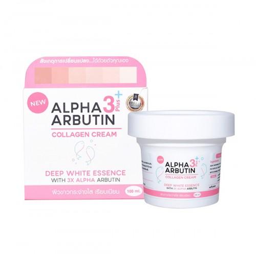 Kem Kích Trắng Da Alpha Arbutin Collagen Cream 3+ Plus Deep White Essence Thái Lan