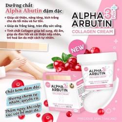 Kem kích trắng da Alpha Arbutin Collagen Cream 3+ Plus Deep White Essence - Mới 2018