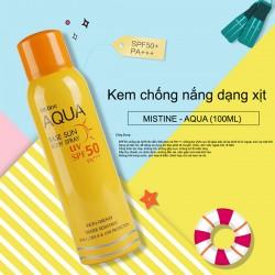 Xịt chống nắng Mistine Aqua Base Sun Body Spray SPF 50 PA+++