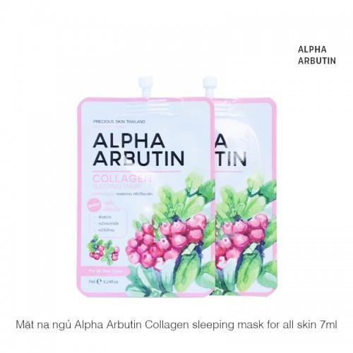 Mặt nạ dưỡng trắng, phục hồi da Alpha Arbutin Collagen Sleeping Mask 7ml x 1 hộp