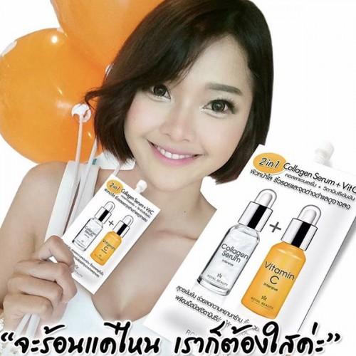 Serum Dưỡng Trắng Da Và Làm Mờ Vết Thâm Serum Collagen + Vit C 8g Thái Lan