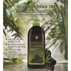 Sữa tắm than tre Cathy Doll Bamboo Charcoal Anti Acne + Oil Control Body Bath Gel 500ml