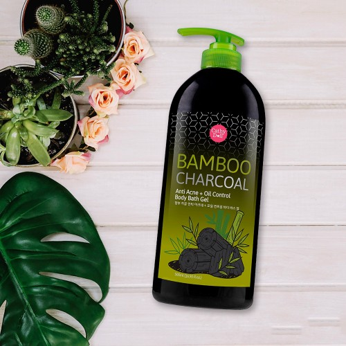 Sữa tắm than tre Cathy Doll Bamboo Charcoal Anti Acne + Oil Control Body  Bath Gel 500ml【Chính Hãng】| Chatuchak Việt Nam