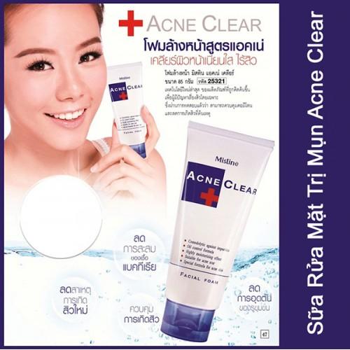 Sữa rửa mặt trị mụn Mistine Acne Clear Facial Foam