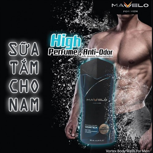 Sữa tắm cho nam thái lan Mavelo Vortex Body Wash For Men 180ml