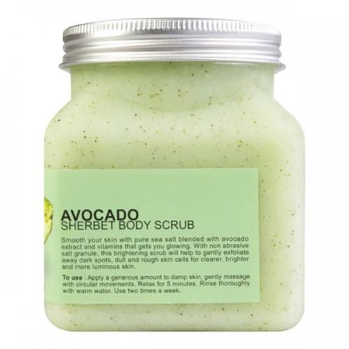 Kem Tẩy Tế Bào Chết Toàn Thân Scentio Avocado Sherbet Body Scrub - Hương Bơ