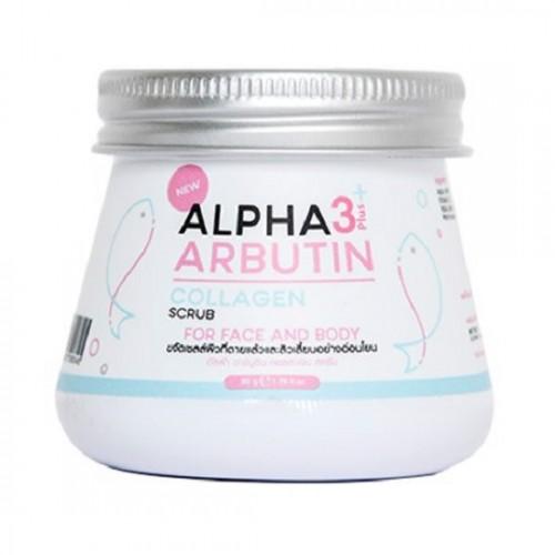 Tẩy tế bào chết Body và mặt Kyra Alpha Arbutin 3 Plus+ Collagen Scrub