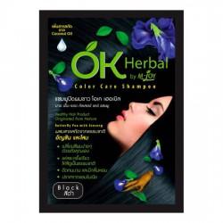 Dầu Gội Nhuộm Tóc Đen OK Herbal Color Care Shampoo 30ml Thái Lan