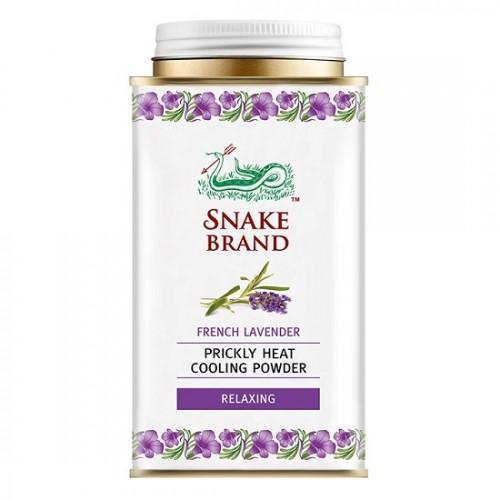 Phấn Lạnh Con Rắn Snake Brand Prickly Heat Cooling Powder Hương Lavender 140g Thái Lan