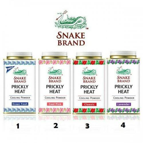 Phấn Lạnh Con Rắn Snake Brand Hương Hoa Hồng 140g Thái Lan