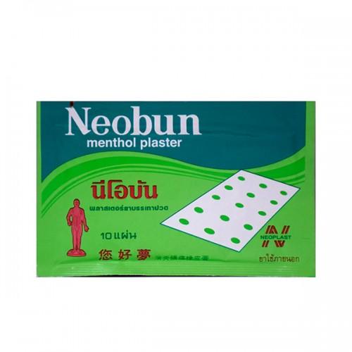 Miếng dán giảm đau Neobun Menthol Plaster 4 x 6.5 cm