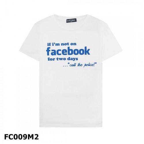 Áo Thun Cotton Tay Ngắn In Chữ Facebook FC009 Thái Lan