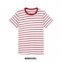 Áo Thun Sọc Đỏ Trắng MS AS001M1 Thái Lan Chính Hãng