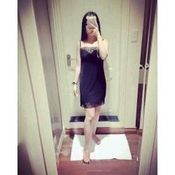 Váy Ngủ Sisterhood Thái Lan Cổ Tim Ren FreeSize