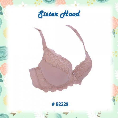 Áo Ngực Có Gọng Big Size Mút Mỏng Ren Mịn Sister Hood 2229 Thái Lan