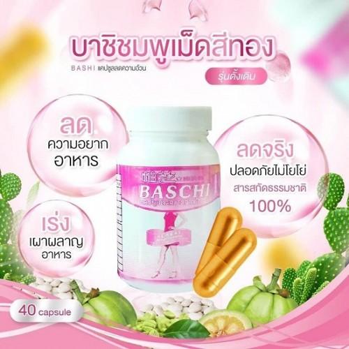 Viên Uống Giảm Cân Baschi Thái Lan Dạng Chai Nhựa Mới
