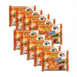 10 Gói Mì Lẩu Thái Yum Yum Tom Yum Chua Cay Nước Đục 67g Thái Lan [Cam]