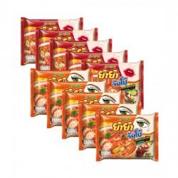 Combo 10 Gói Mì Yum Yum Mix 2 Vị Tom Yum Thái Lan
