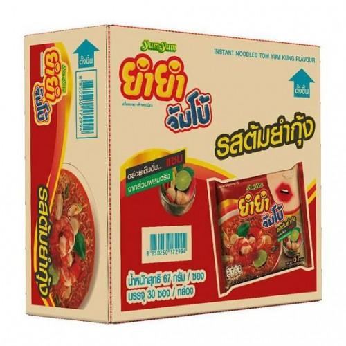 10 Gói Mì Lẩu Thái Yum Yum Tom Yum Siêu Cay Nước Trong 67g Thái Lan [Đỏ]