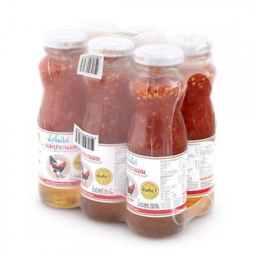 Lốc 6 Chai Sốt Ớt Chua Ngọt Maepranom Sweet Chilli Sauce 260g Thái Lan